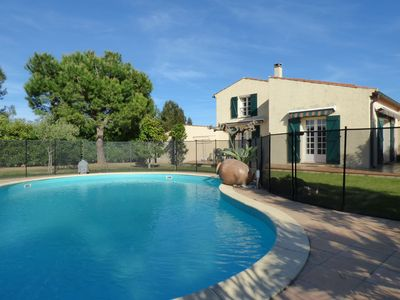 Photo for 5min from the sea, villa 8 pers with private pool and garden