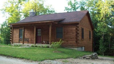 Photo for Ashmere Lake Log Cabin with privacy / 2 Bedrooms