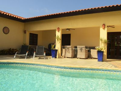 Photo for Villa Opal: Spacious 4BR home in Noord, with private pool, BBQ, close to beaches
