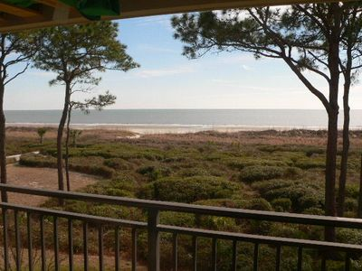 Photo for OCEANFRONT yet ECONOMICAL 1 BR Condo GREAT View of Ocean & Hilton Head Beach