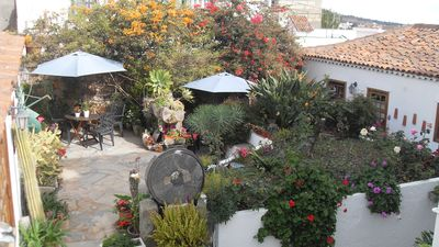 The Canarian Courtyard & Both Cottages - #1 on the Right & #2 on the Left
