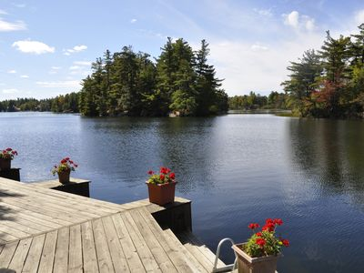 Photo for Lakeside Cabin with Great Views, Exceptional Waterfront, and Motorboat.