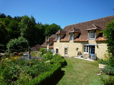 Photo for Stunning 18thC Stone property with huge Heated Pool in private 50 acre estate