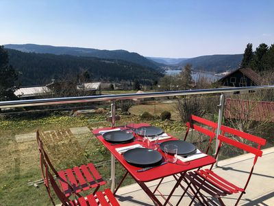 Photo for Apartment near the slopes with breathtaking views of Lake Gérardmer