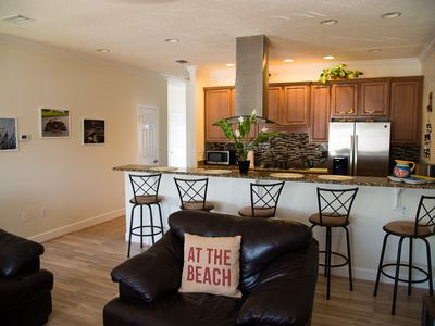 Photo for One block from the beach, ocean view, 3B/3B spacious townhome with garage