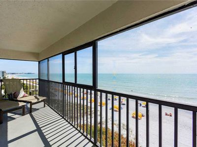 Photo for Sweeping Gulf Views from Direct Beach Front Corner Unit - Free WiFi