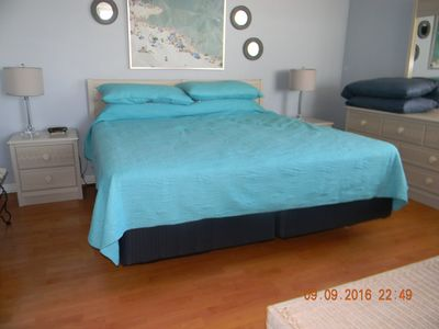 King size bed with one of our quilts