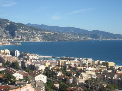 Photo for GRAND 2 PIECES PANORAMIC SEA AND MOUNTAIN ROQUEBRUNE CA