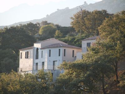Photo for Villa with private pool in quiet and great sea view - For 12 people