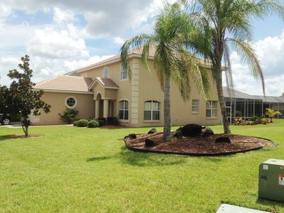 Photo for SAVE UP TO 40%. LUXURY VILLA CLOSE TO DISNEY, WI-FI, POOL, HOT TUB, GRILL, GATED