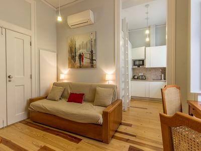 Photo for Charming 1 bedroom apartment in Lisbon's historic center heart