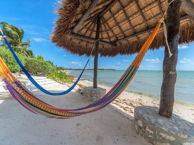 Photo for Eco-Chic Home right on the beach within a 5 min walk to Casa Cenote