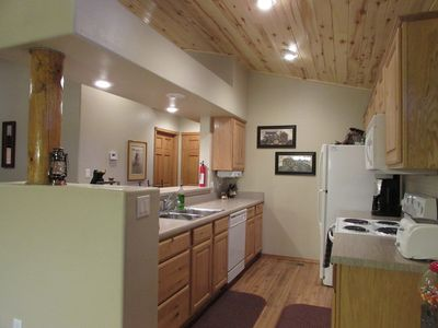 Fully equipped with large galley kitchen