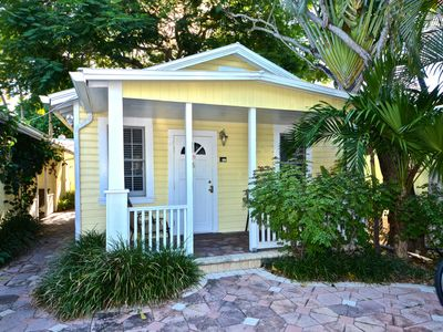 Photo for Cozy cottage w/ porch & great walking location - close to beach, small dogs OK!