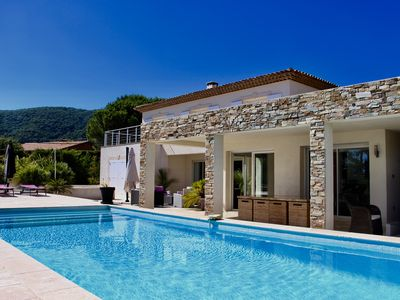 Photo for Recent Magnificent Contemporary Villa with Pool and Sea View
