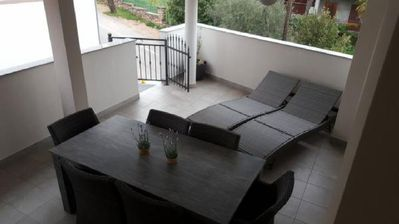 Photo for Apartment Marija, 250 m to the beach, 4 people, free WiFi, excellent location