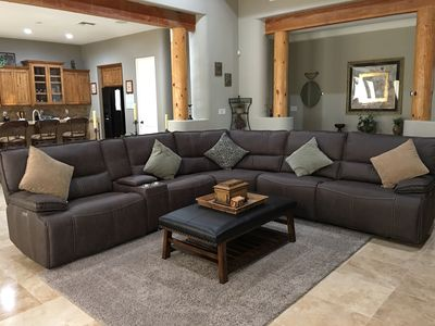 Large sectional with 3 reclining seats