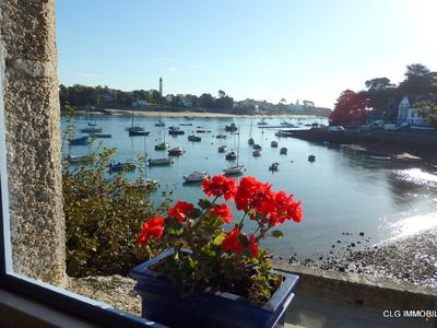 Photo for Sainte Marine, 1st floor apartment breathtaking views of the port and Bénodet