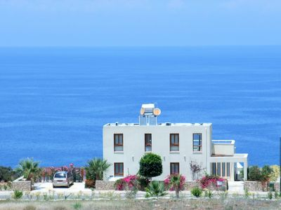 Photo for Spacious Modern Villa With Large Infinity Pool, Superb Seaviews Whilst Lying In Bed
