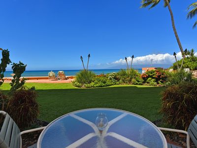 Photo for Makani Sands #109 1brm Beachfront Condo in West Maui