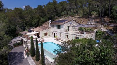 Photo for A beautiful modern Provencal stone home in Roquefort les Pins (06330)