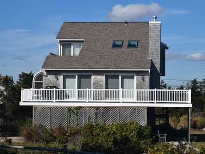 Photo for Ocean Views, listen to the waves, central AC - Steps to a private beach!