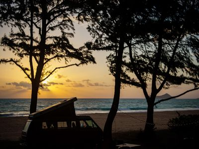 Photo for Classic VW Pop-Top Camper in Hawaii! Your Oahu Basecamp on Wheels!