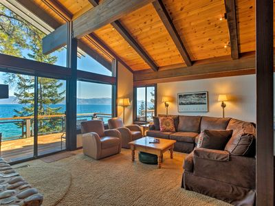 Photo for Waterfront Tahoe City Home w/Decks+Stunning Views!