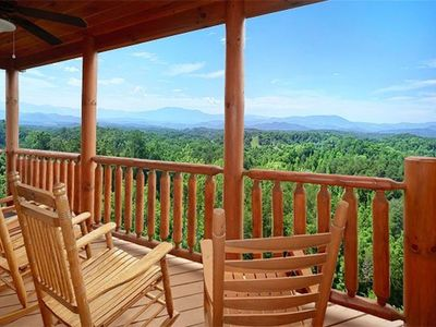 Photo for AWESOME VIEW! GREAT LOCATION! NEW LISTING, 4 BR  5 BA SLEEPS 12, 50% Off Zipline