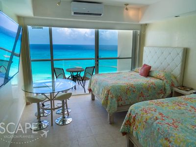Photo for Great flat with ocean front to live a paradise experience