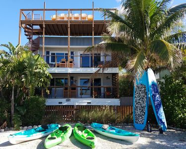 Paddle next to the dolphins with our complimentary Kayaks & Stand up Boards.