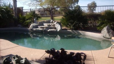 Backs to Las Colinas Golf Course, Private Pool and Waterfall in our Little Oasis