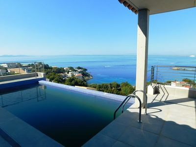 Photo for Modern house with private pool and sea views in Almadrava, Roses