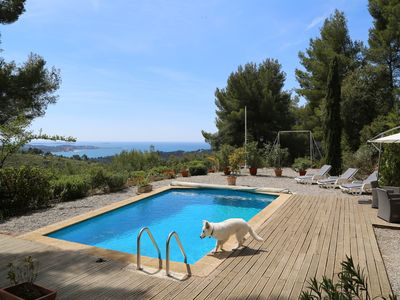 Photo for LARGE VILLA IN PROPERTY OF 8 HECTARES WITH SWIMMING POOL AND SEA VIEW