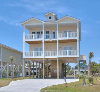 Photo for BRAND NEW, 2ND Row 4 BR/3 BA Home with Open Ocean Views of Beach & Pier-Sleeps 8