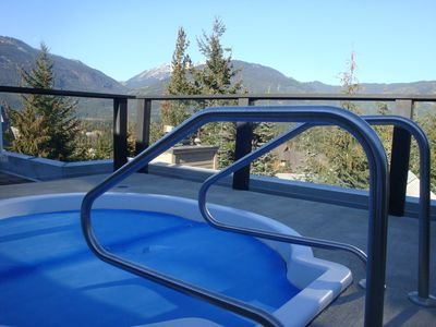 Rooftop hot tub.  Great for unwinding after a day on the hill.
