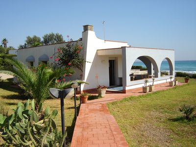 Photo for Villa on the sea with a large veranda and garden