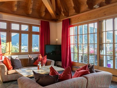 Photo for Luxury & cosy duplex penthouse residence Seehof in the heart of Davos