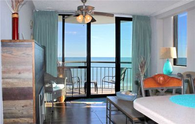 Photo for Direct Ocean front views of the beach! Meridian Plaza  804: 1 BR / 1 BA condo in Myrtle Beach