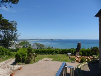 Photo for 180 Degrees SEA VIEWS Luxury Apartment,Balconies,Garden,Parking,Super King bed