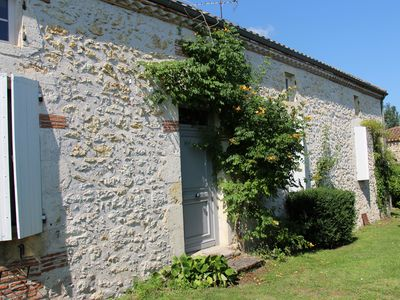 Photo for Very nice stone house with pool in a fenced garden of 2400m2