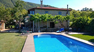 Photo for Historic holiday home with pool ideal for families in the Ribeira Sacra