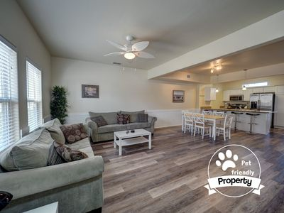 Photo for Pet-Friendly 3/2.5 Townhouse close to the beach with saltwater pool and Free