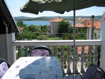 Photo for Studio flat with terrace and sea view Turanj (Biograd)