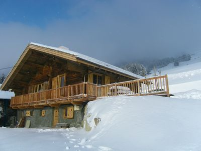 Photo for Typical mountain chalet for 12 people to 500 meters from the lifts