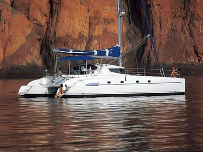 Photo for Large catamaran dock, one hull to you alone (1cpl), the other for your guests