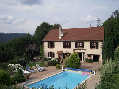 Photo for Farm in the Vosges countryside, heated pool, on a 5000 sq.m property with trees