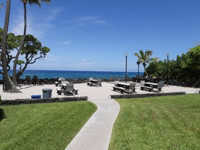 Photo for NEW LIISTING! Ground floor, ocean view condo w/ a shared pool & grilling area