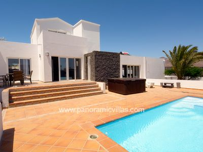 Photo for 6 bedroom Villa, sleeps 12 with Pool, Air Con, WiFi and Walk to Shops