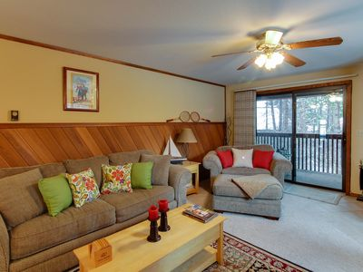 Photo for Well-stocked condo w/ a wood stove & shared tennis!